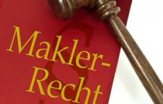 Richterhammer mit Maklerrecht